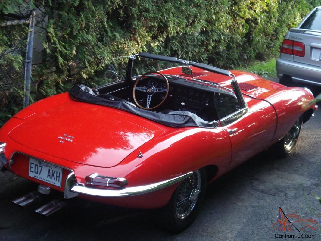 Vintage Jaguar Convertible Red Xk E 1968