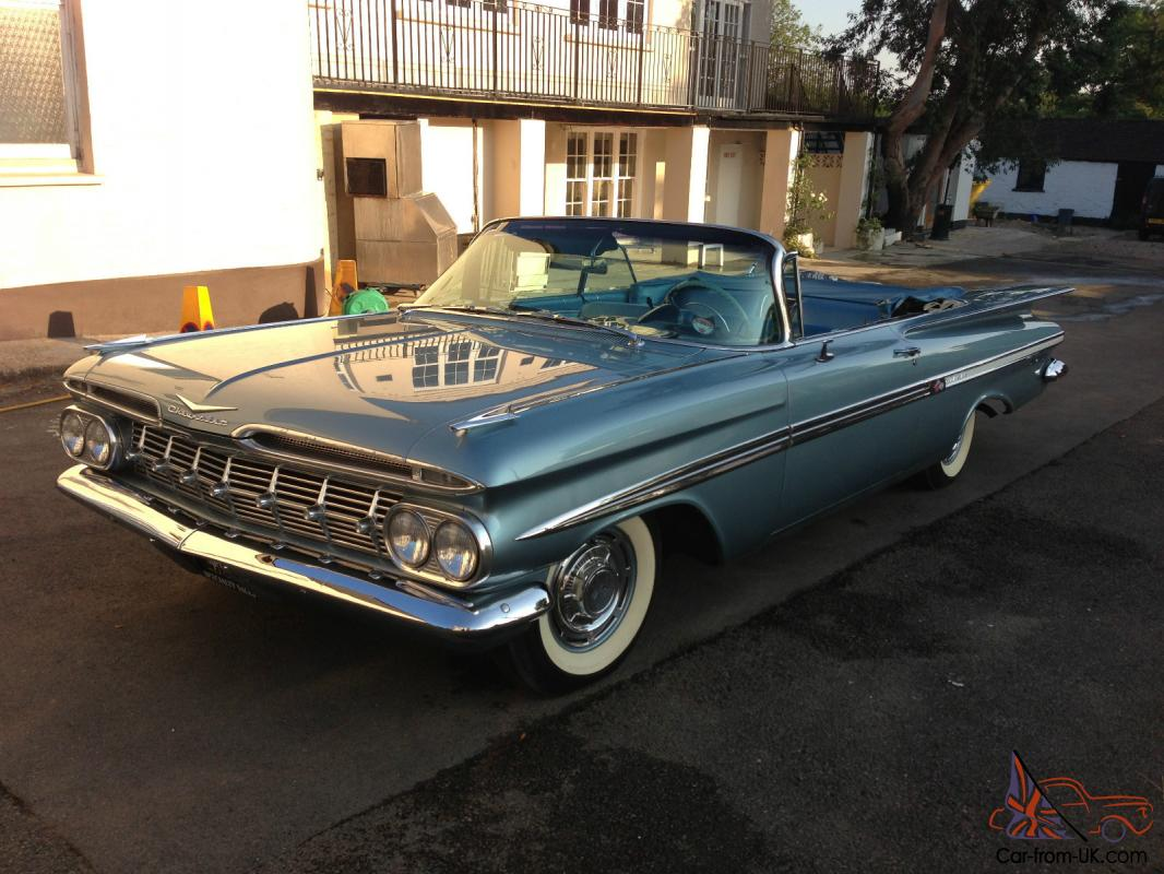 Convertible 1967 chevy impala convertible for sale : 1959 CHEVROLET IMPALA BLUE LHD CLASSIC CONVERTIBLE