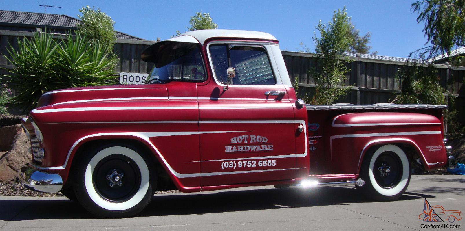 55 Chevy Pickup Custom RAT ROD Shop Truck NOT F100 GMC Ford in ...
