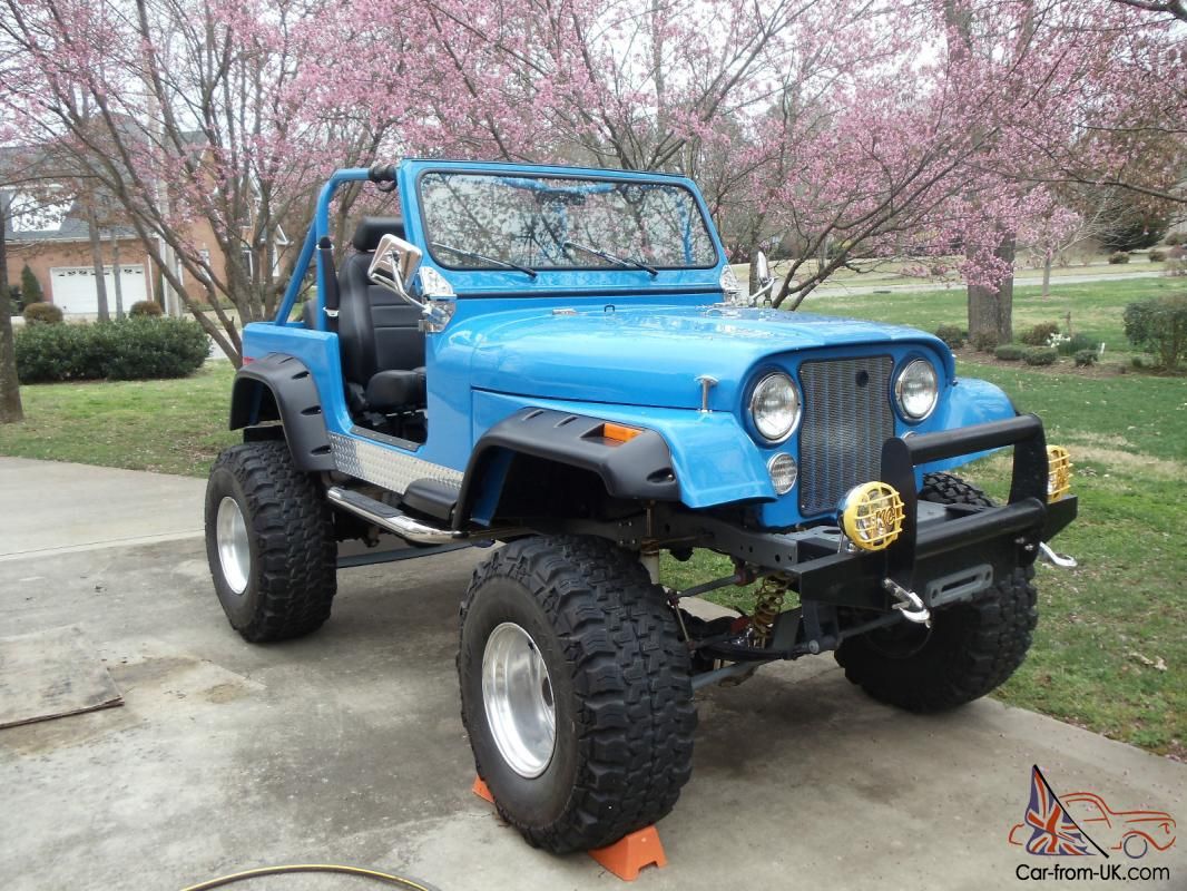 1977 Custom Amc Jeep Cj7 With V8 36 U0026quot  Tires