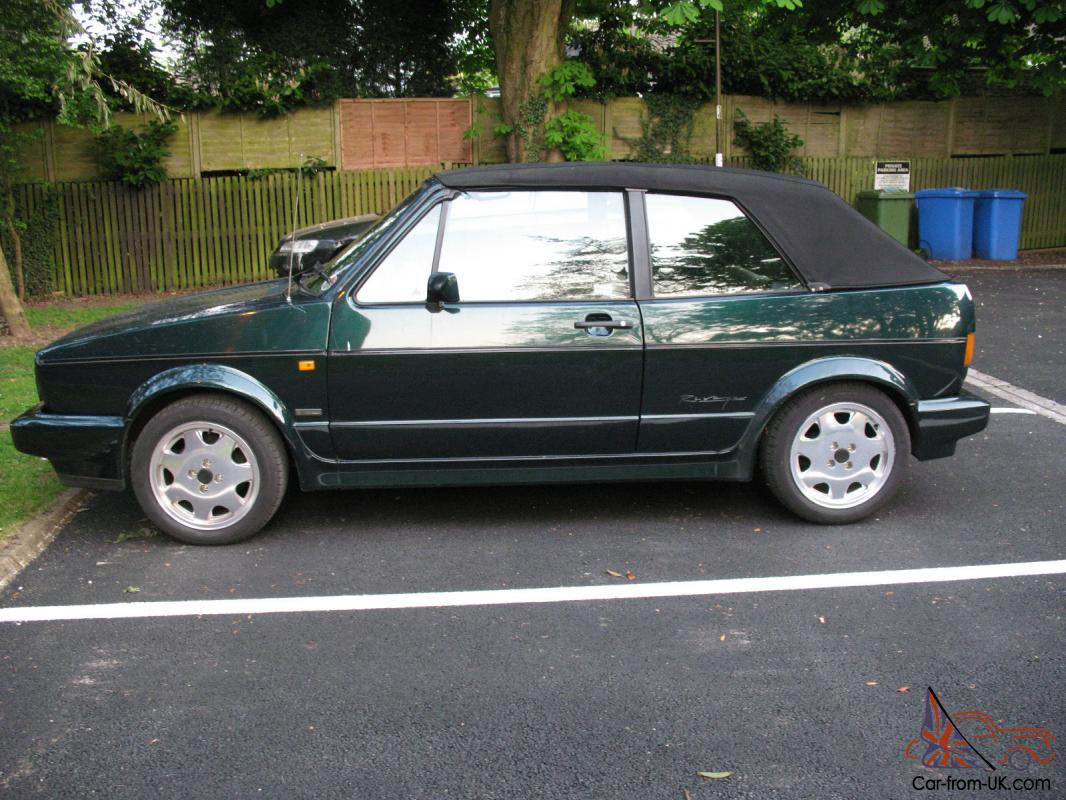 golf mk1 rivage 1 8 gti cabriolet green with cream. Black Bedroom Furniture Sets. Home Design Ideas