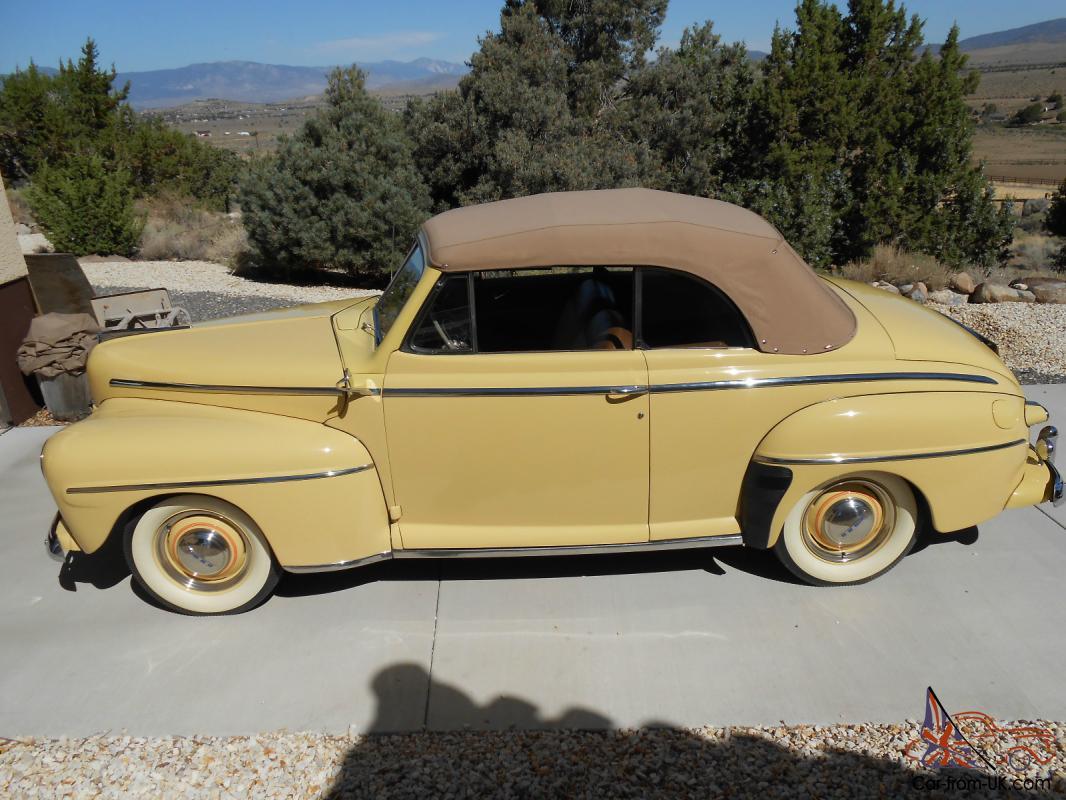1948 Ford Super Deluxe 2 Door Convertible For Sale