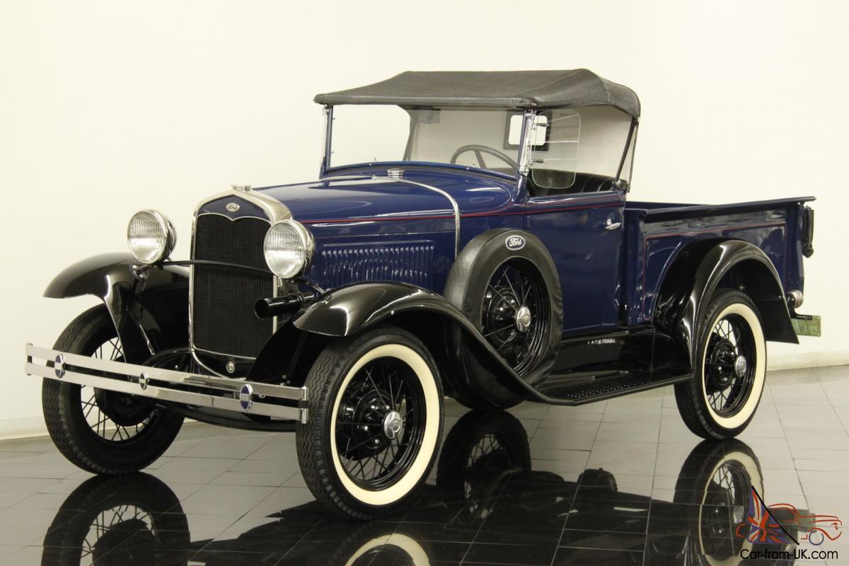 1931 Ford Model A Roadster Pickup Restored 200 5 4 Clyinder 3 Speed Oak Bed