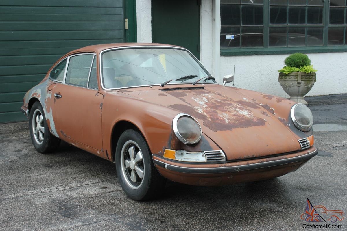 Porsche 911t 24l Coupe Brown 1972 Lhd Classic Restoration Project