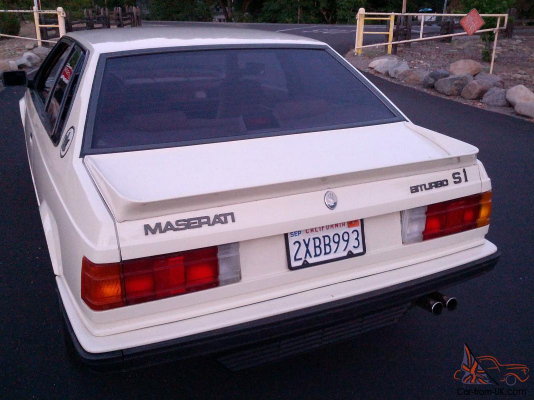 1987 Maserati Biturbo Base Coupe 2-Door 2.5L
