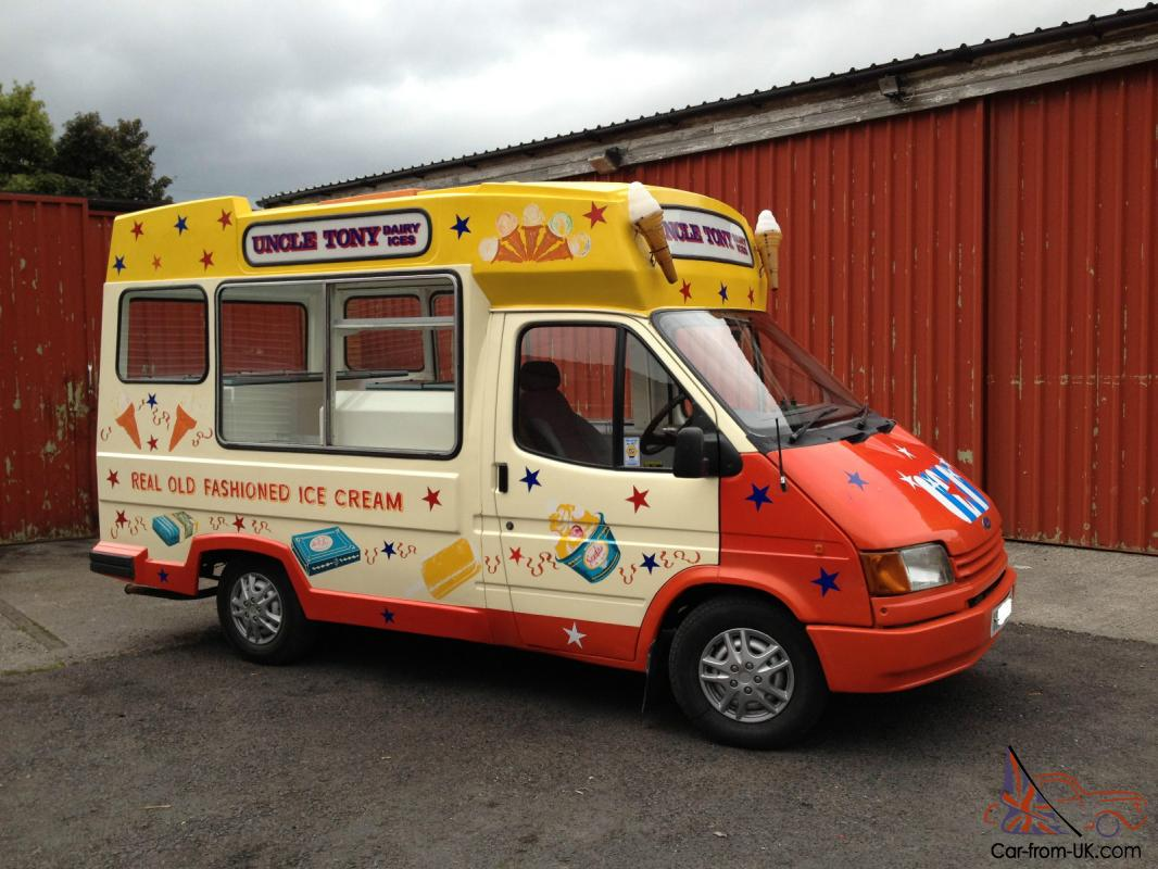 first look save off dirt cheap Whitby Morrison Ford Transit Ice Cream Van - Full MOT