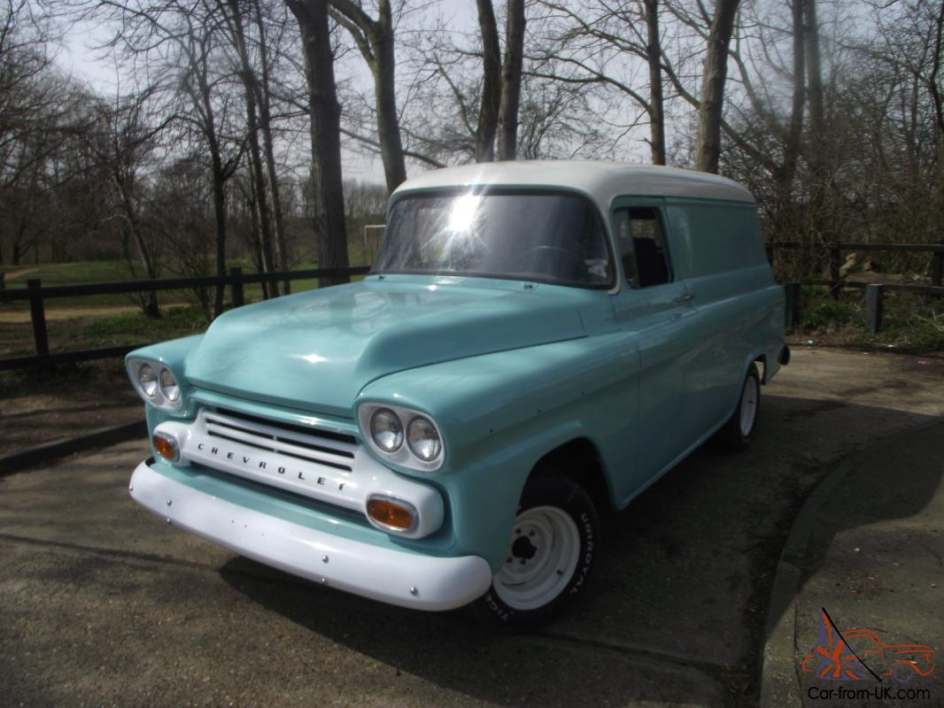 Truck 1955 chevy apache truck for sale : 1959 Chevy Apache Panel Van
