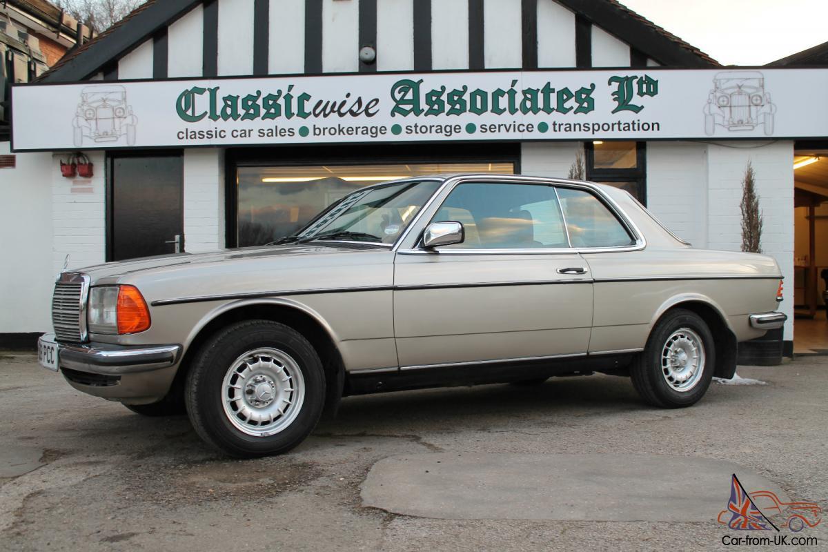 1985 MERCEDES 230 CE AUTO SILVER