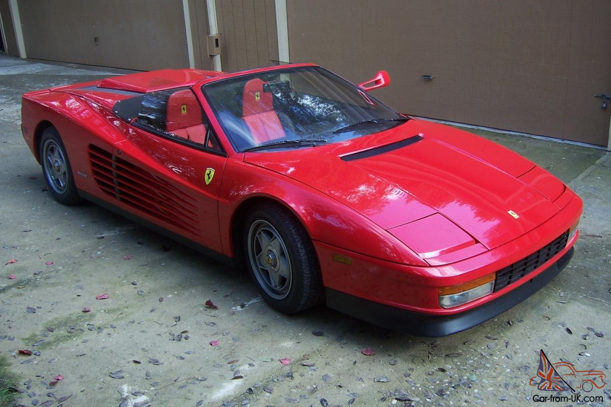 1986 Ferrari Testarossa Spyder Rare