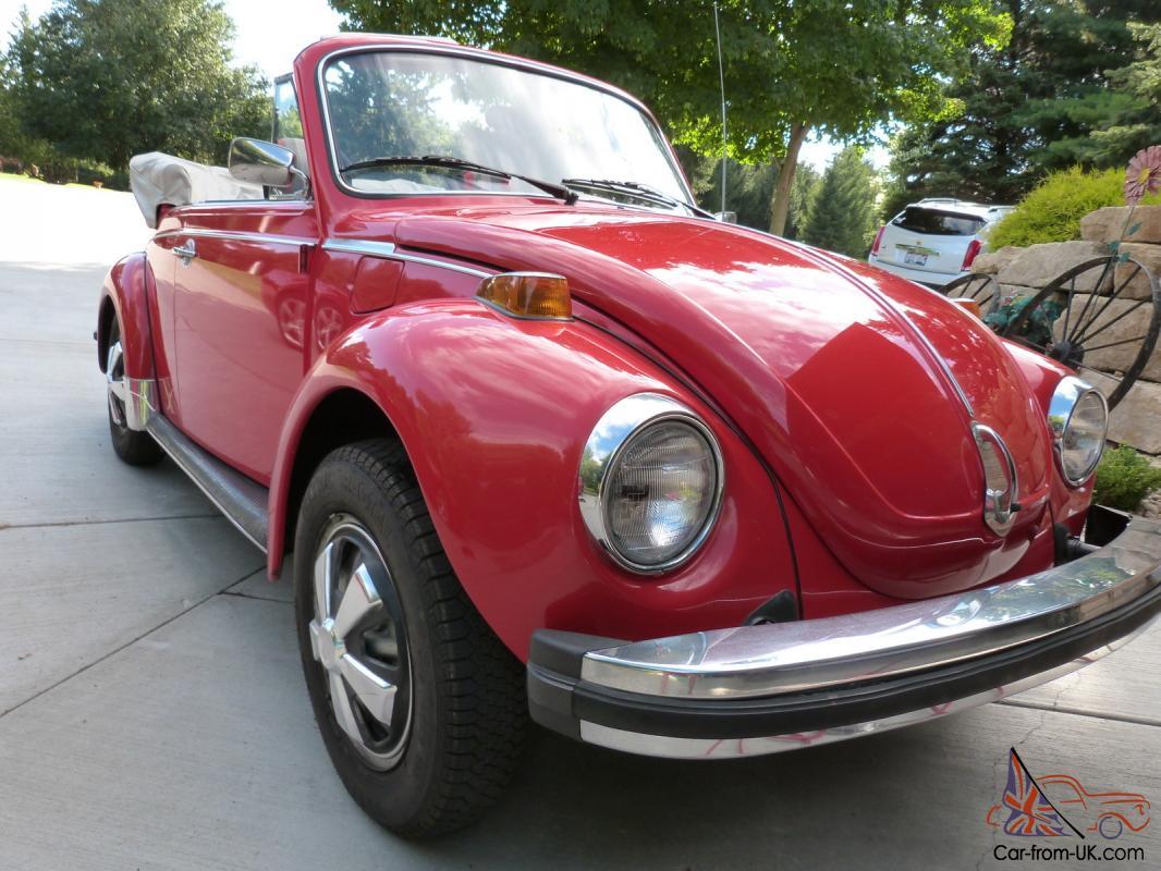 1979 Volkswagen Super Beetle Convertible Survivor Car