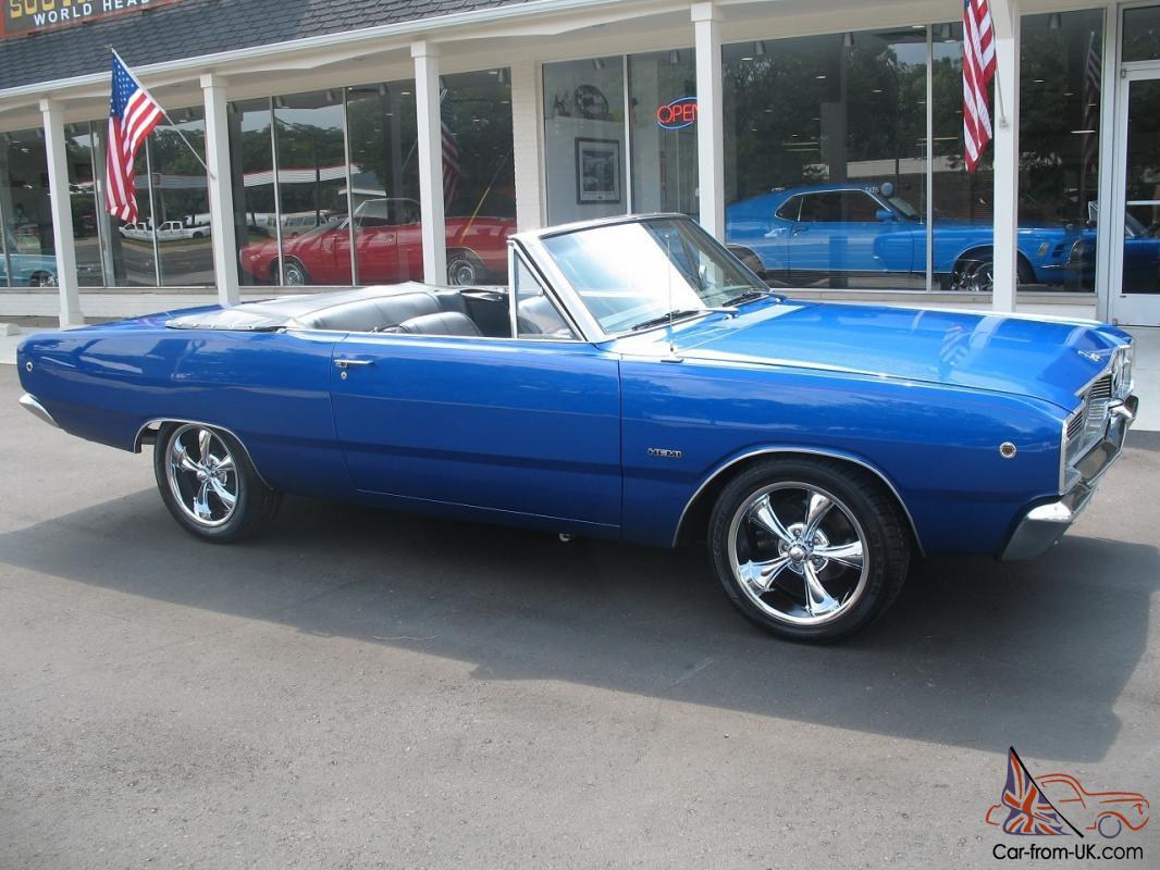 1968 Dodge Dart Convertible Electric Blue 5 7 Liter Hemi