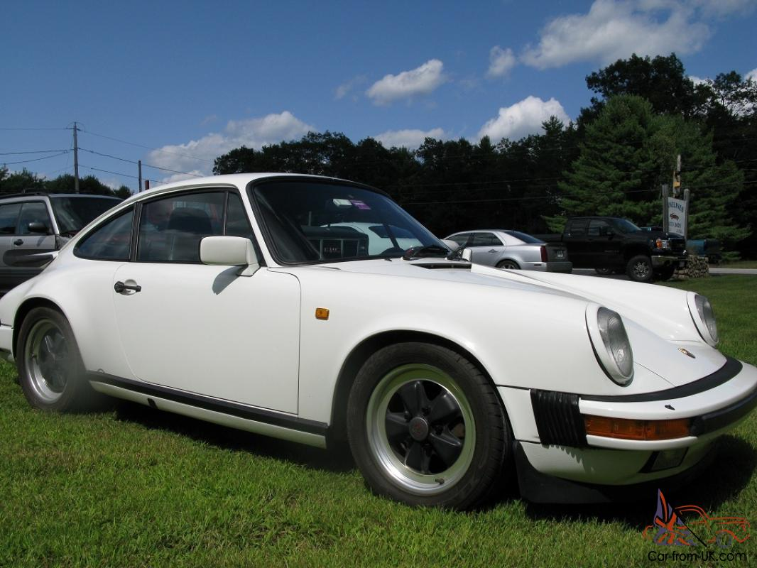 1986 Carrera Wide Body Whale Tail White Coupe Eurocar 5 Speed Stick Porsche 911 1982 Wiring Diagram Get Free Image About Shift