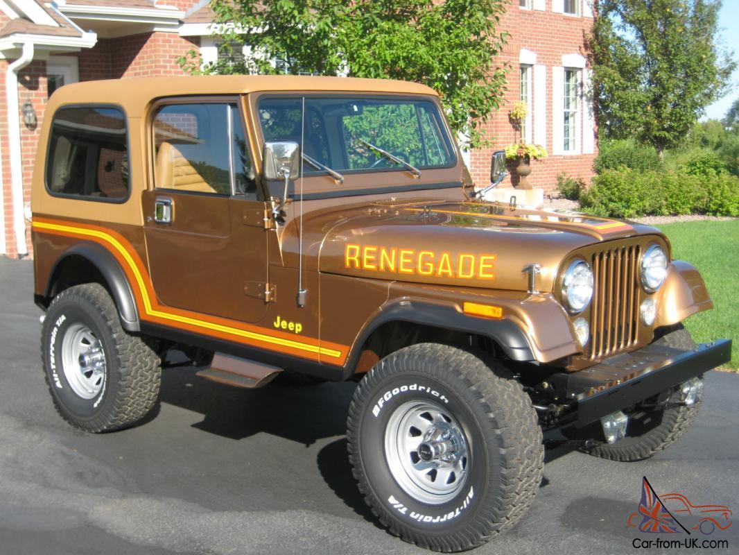 1985 Jeep CJ7 Renegade, Nut and Bolt restoration  AMC V8 Super clean