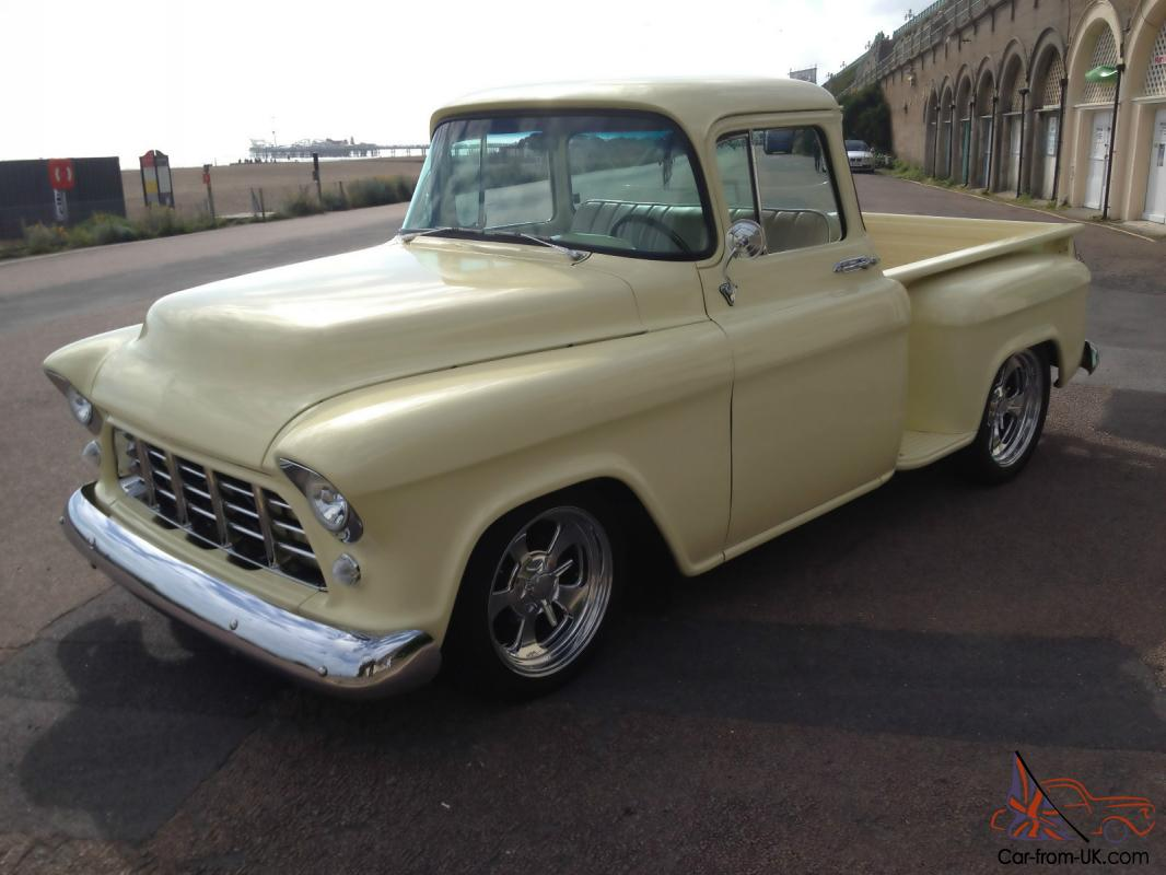 Truck chevy 1955 truck : Hotrod Stunning 1955 Chevy Stepside Pickup signed by Billy Gibbons ...