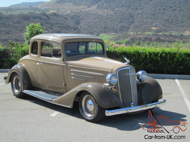 1934 Chevy Master Business Coupe ALL STEEL BODY COLD AC Very clean Classic  Rod