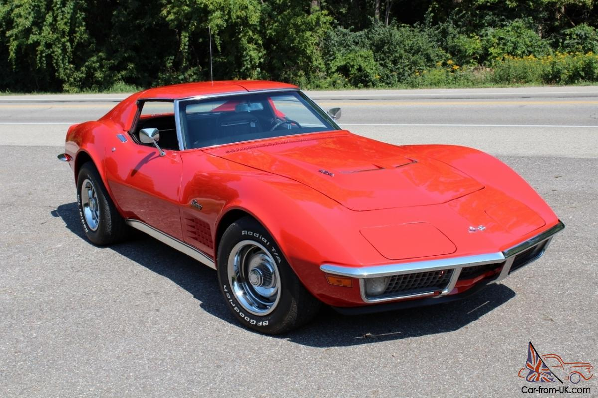1970 Corvette Stingray Lt1 Converted To 454ci Big Block Many New Leer Cap Wiring Diagram Parts