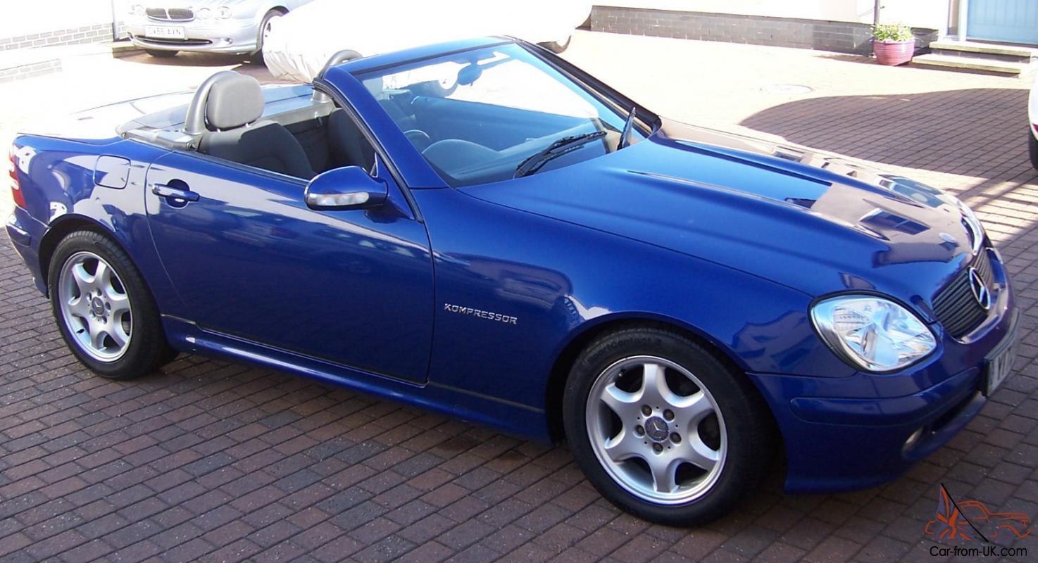 2001 mercedes slk 230 kompressor automatic blue metallic. Black Bedroom Furniture Sets. Home Design Ideas
