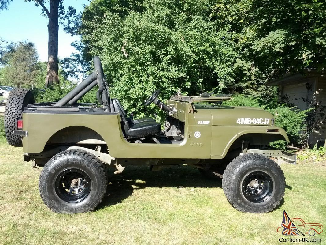 Cj7 Jeep For Sale >> Jeep Cj7 Army Wrangler 4x4 Cj 7 Willys Mb