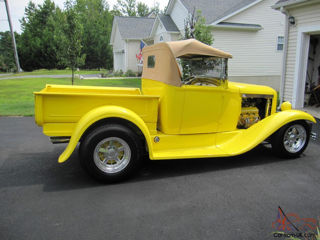 1930 Model A Pickup Roadster Street Rod Pro Built Steel Brookville Roadster  Body