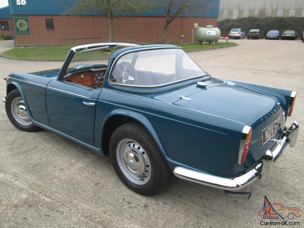 Triumph TR4A  IRS  1967  Valencia Blue with Surrey Hardtop   MUST be viewed