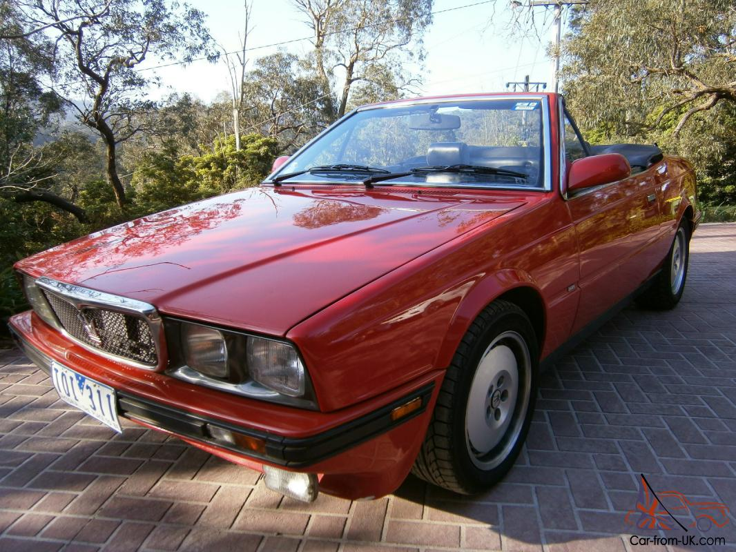 Maserati Biturbo Spyder 1989 Convertible 4 SP Auto 2 8L Twin Turbo