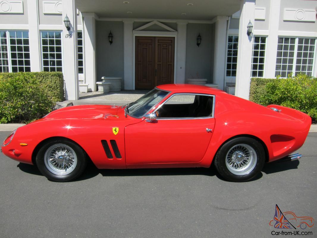 1962 Ferrari 250 Gto Rosso Corsa Red Replica Race Car For Sale