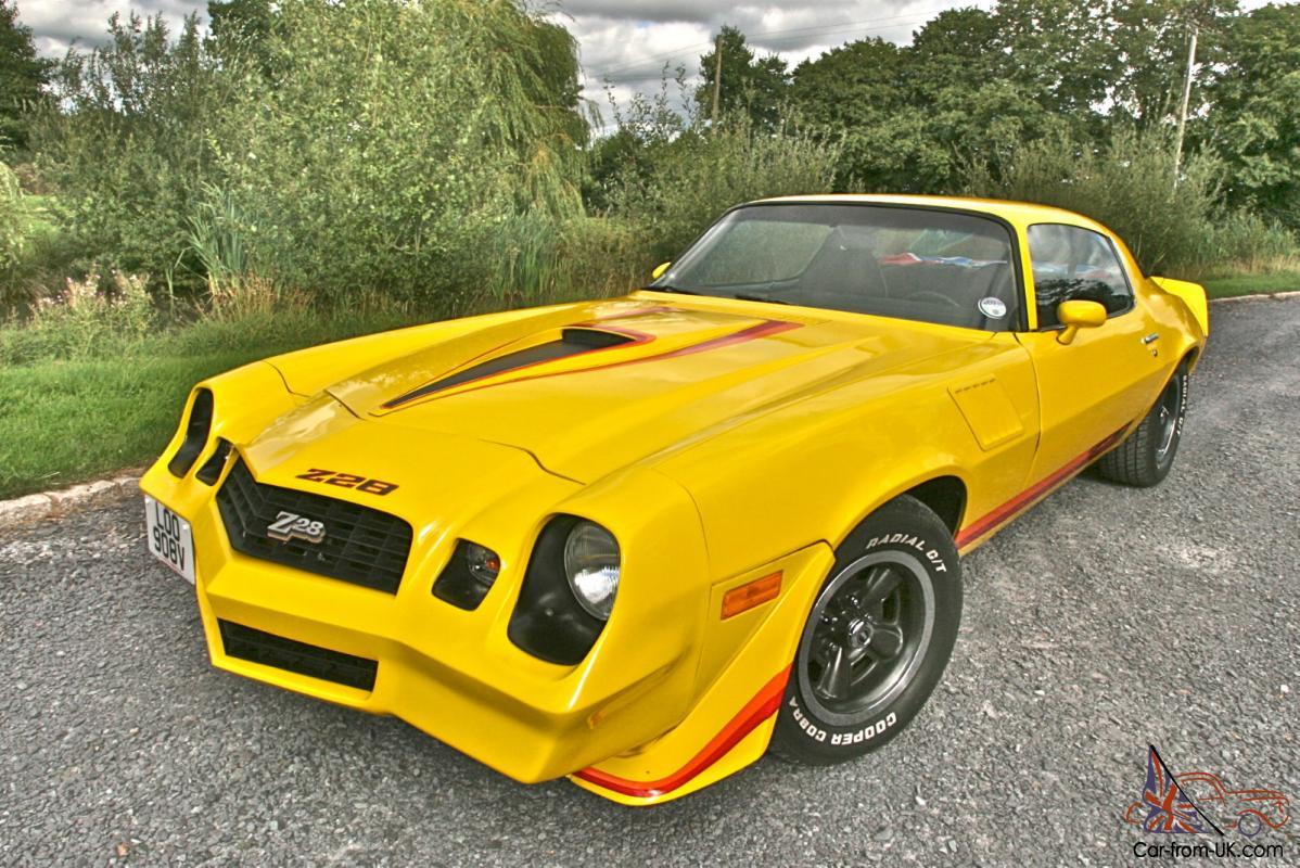 1979 Stunning Chevrolet Camaro Z28 5 7 V8 in eye popping yellow