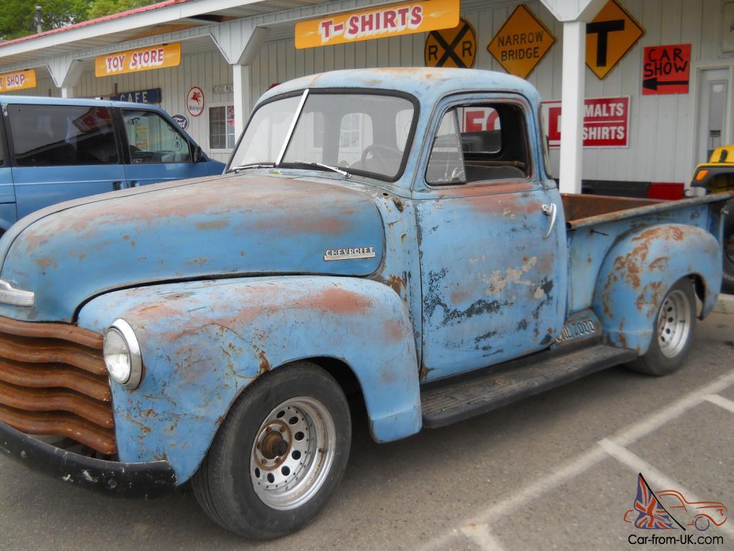 1953 Chevy Pickup Truck 5 Window 3100 Model Short Box Rat Rod Patina Sunbaked