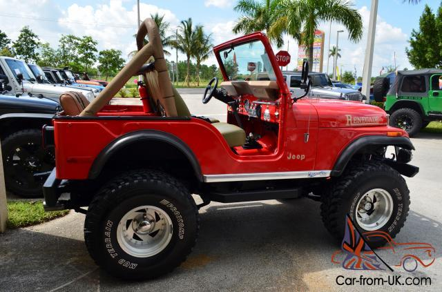 Jeep Renegade Lifted >> 1976 Jeep AMC CJ5 Renegade V8 4x4 Red Lifted Custom One of a kind Classic Car