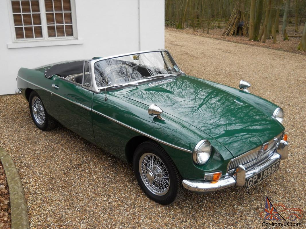 Mg Mgb Sports Convertible Green Ebay Motors 121102298147