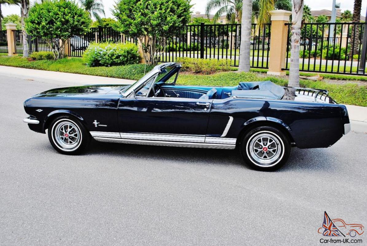 Simply Beautiful 1965 Ford Mustang Convertible 4 Speed P S