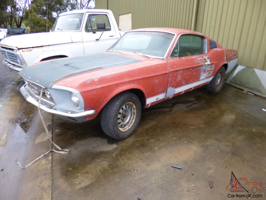 1967 mustang fastback s code 390 big block four speed project car