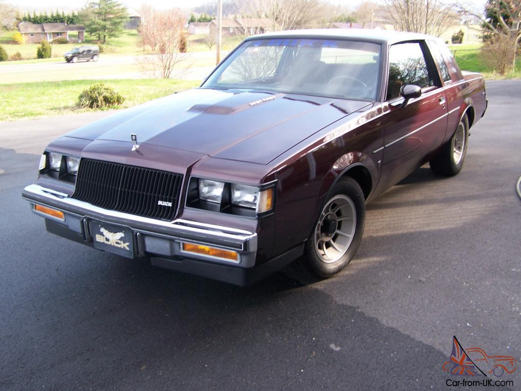 Buick Regal T Type >> 1987 Buick Regal Turbo Type T 62 270 Original Miles 1 Owner
