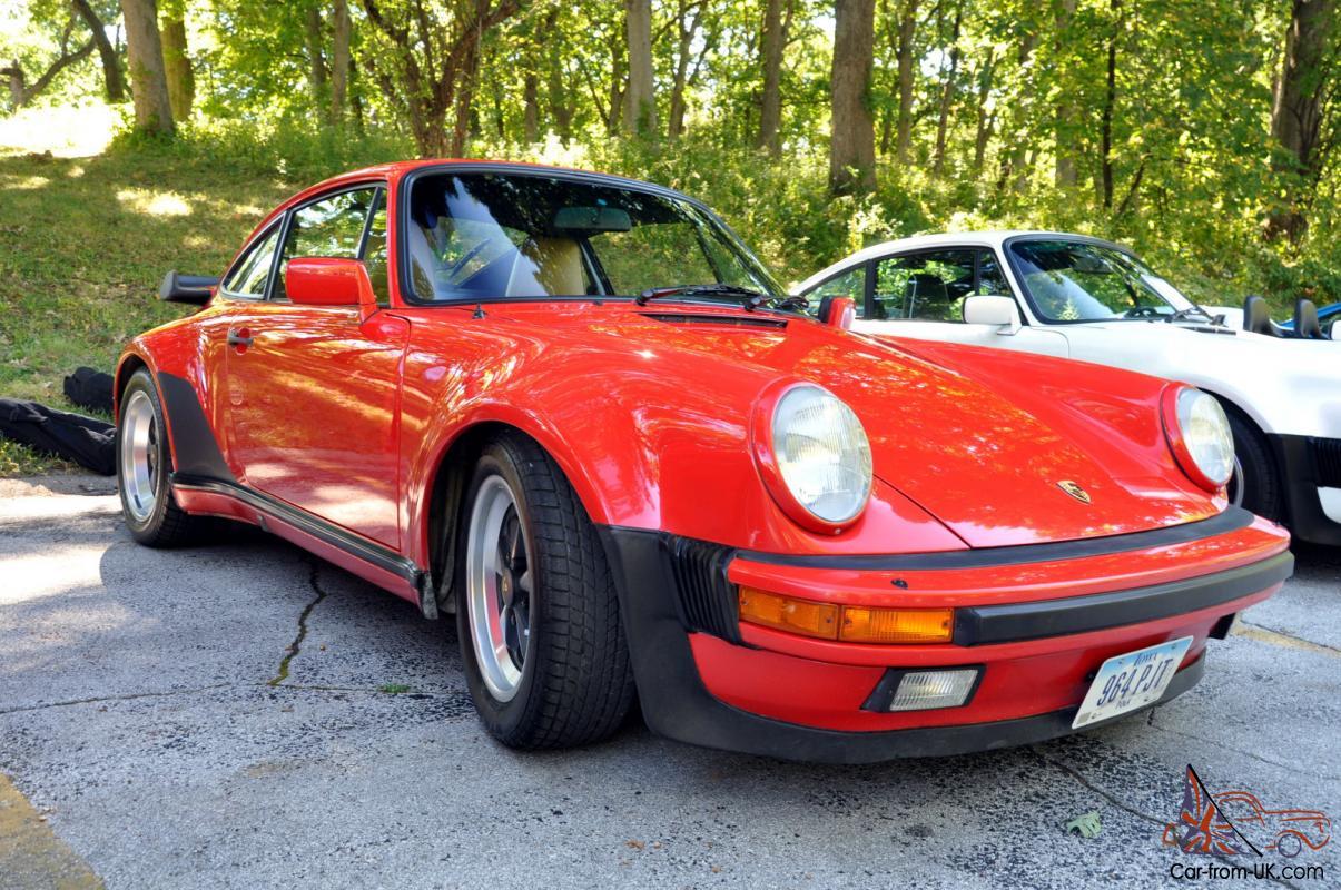 1986 Porsche 911 Turbo Carrera Coupe 2 Door 33l 930 Red