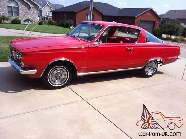 Classic Red on Red 1964 Plymouth Barracuda