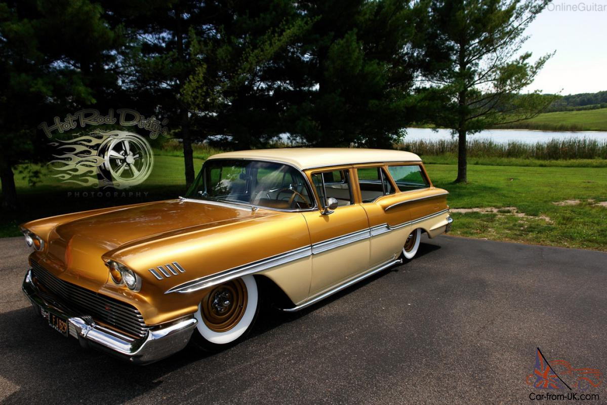 BROOKWOOD BAGGED CUSTOM STATION WAGON CHEVY RAT ROD STREET HOT ROD ...