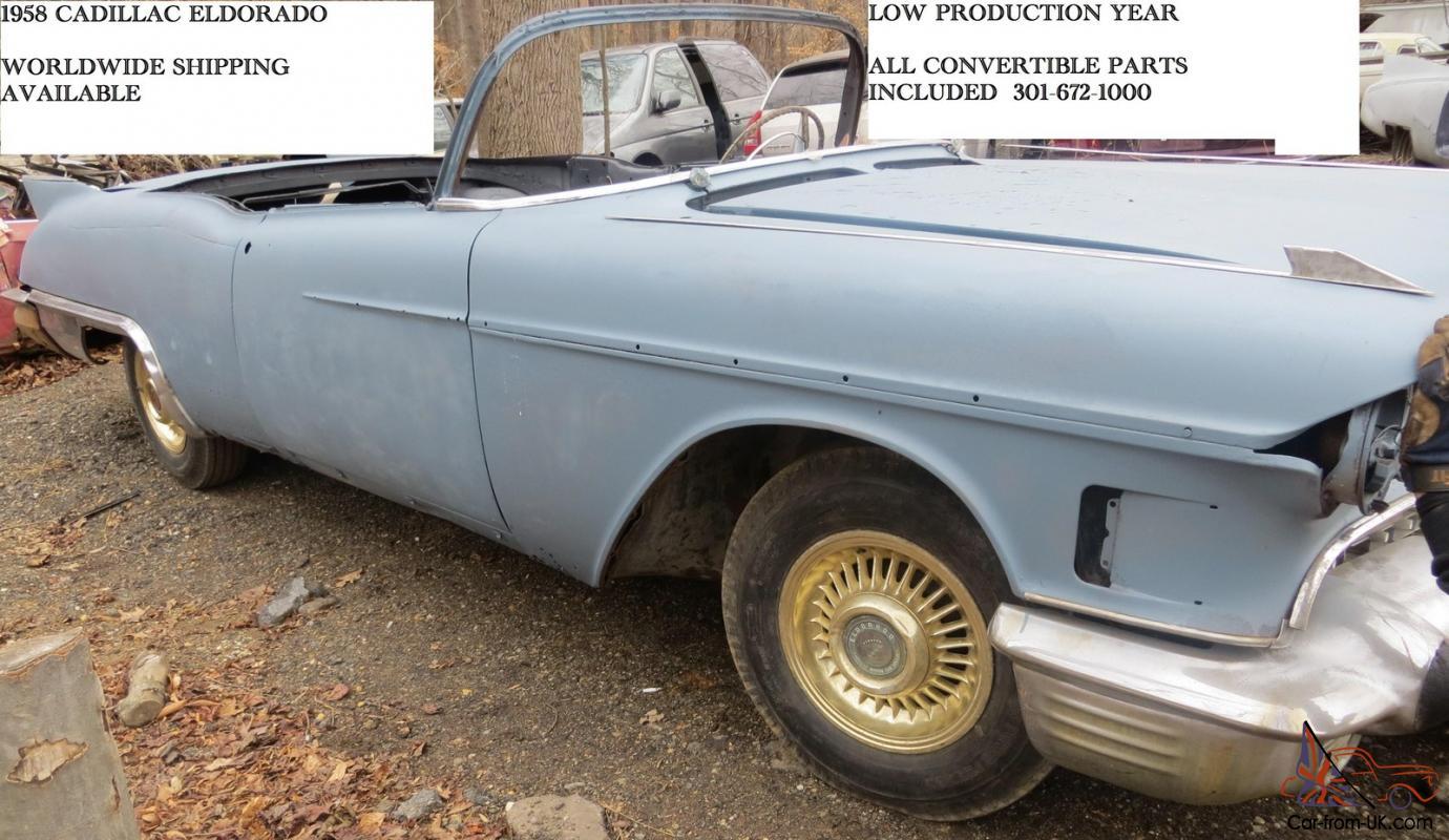 1958 Cadillac Eldorado project ( 4 sabres 1956 gold fit 1957 1955 series 62  )