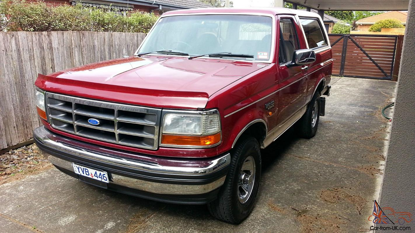 Ford Bronco Eddie Bauer Edition 1992 In Melbourne Vic For Sale