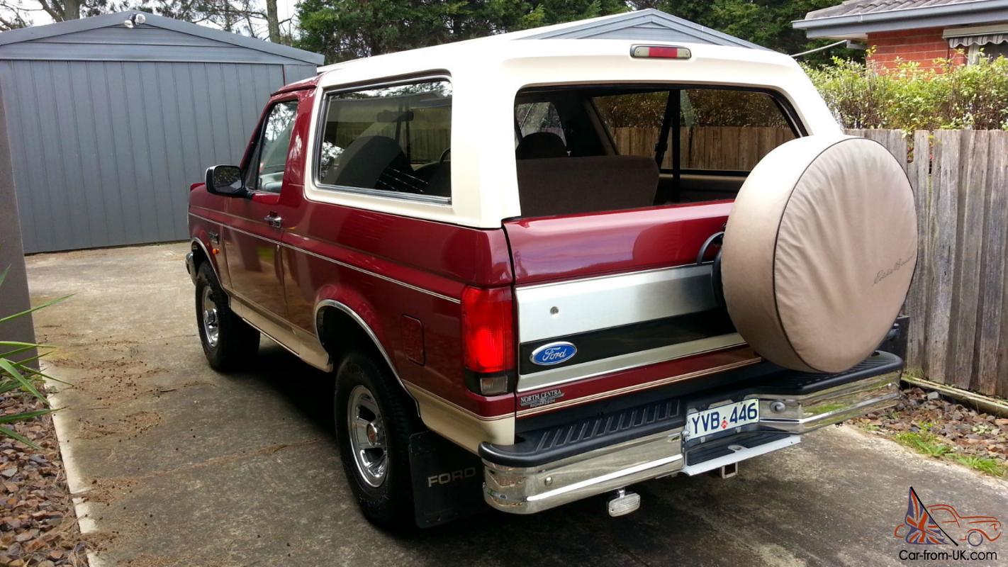 Ford Bronco Eddie Bauer Edition 1992 In Melbourne Vic