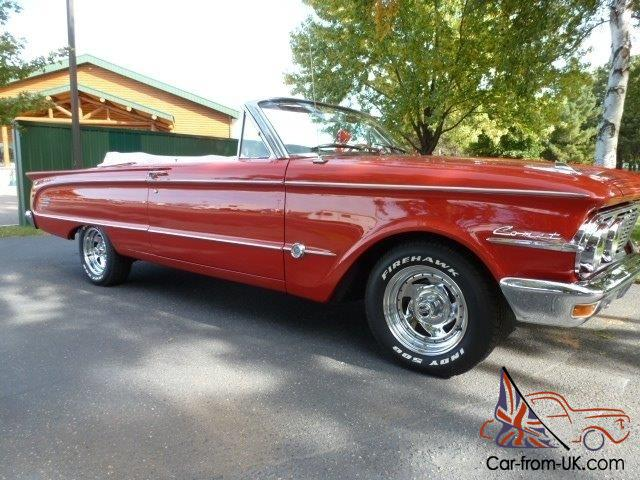 1963 Mercury Comet Convertible S22 73 000 Actual Miles Numbers Car No Reserve