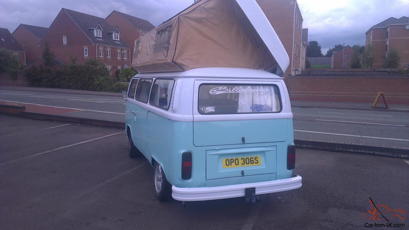 VW T2 camper ready to use viking poptop driveaway awning