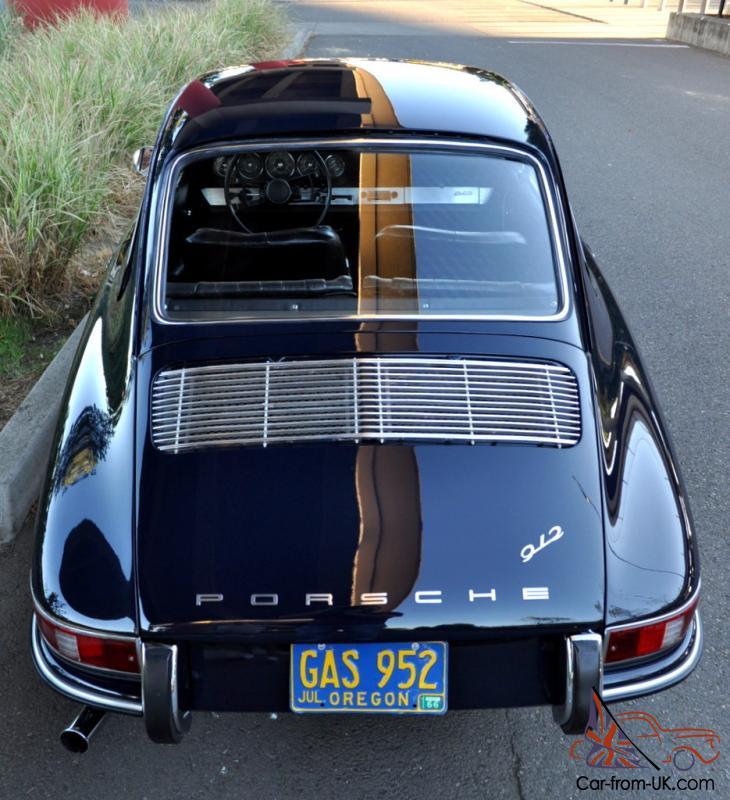 Porsche Car Show: 1966 Porsche 912 Short Wheel Base Coupe Aga Blue Fresh