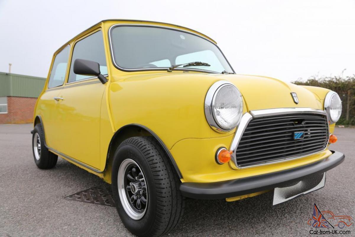 1981 Austin Morris Mini Hl Snapdragon Yellow