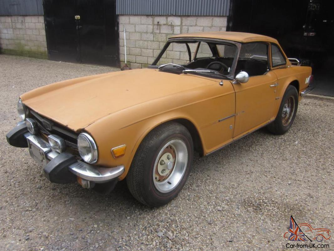 Triumph TR6 LHD Overdrive Car With Hardtop To Restore