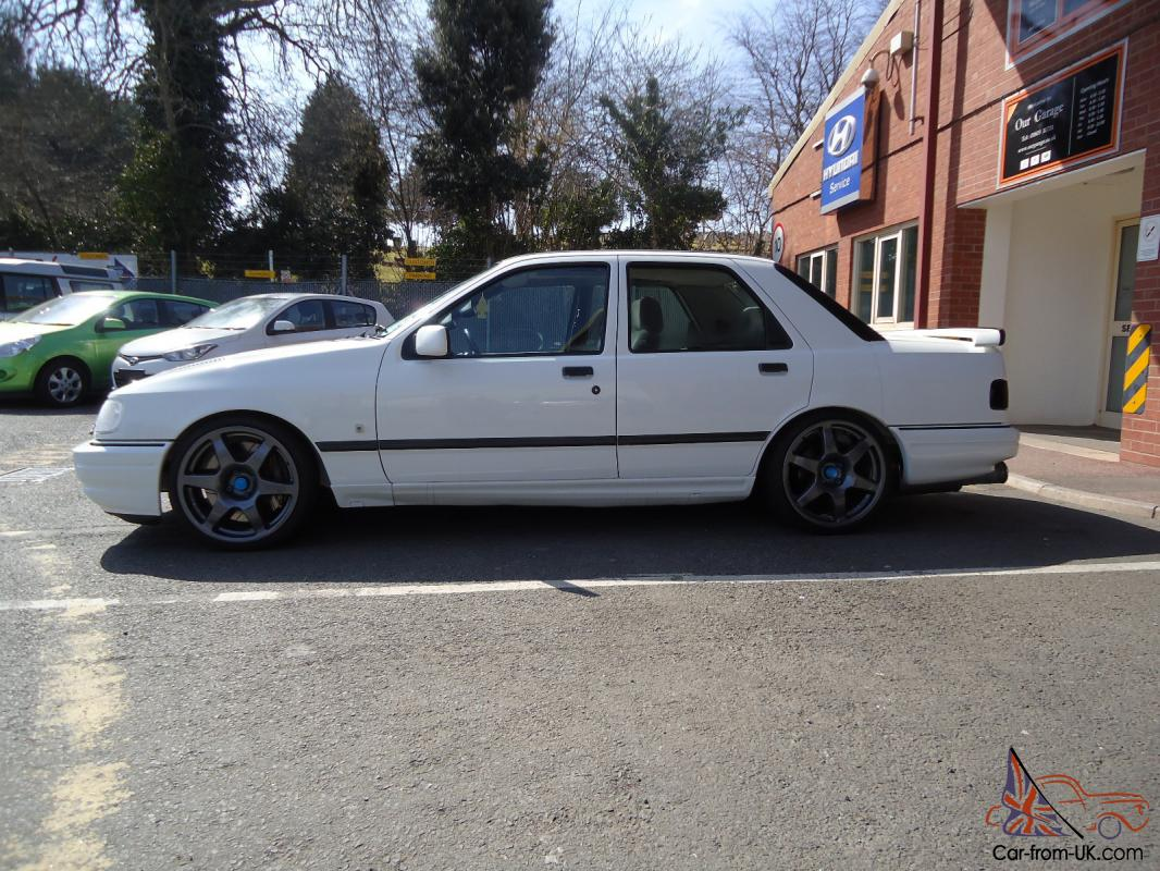 ford sierra rs cosworth white