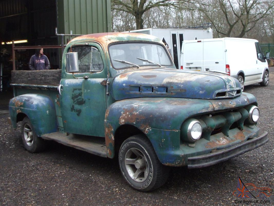 1955 Ford F100 Panel Truck Pickup 1952 Hotrod Ratrod Classic American 52 V8 Project