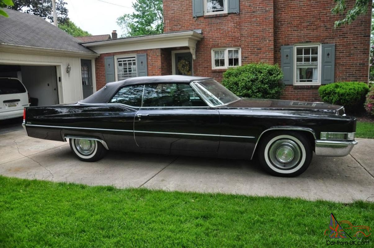 1969 Cadillac Deville Convertible Black On 45k Orignal Miles 472ci