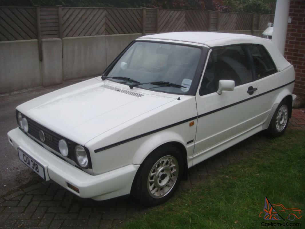 1989 volkswagen golf 1 8 gti cabriolet convertible cab white. Black Bedroom Furniture Sets. Home Design Ideas