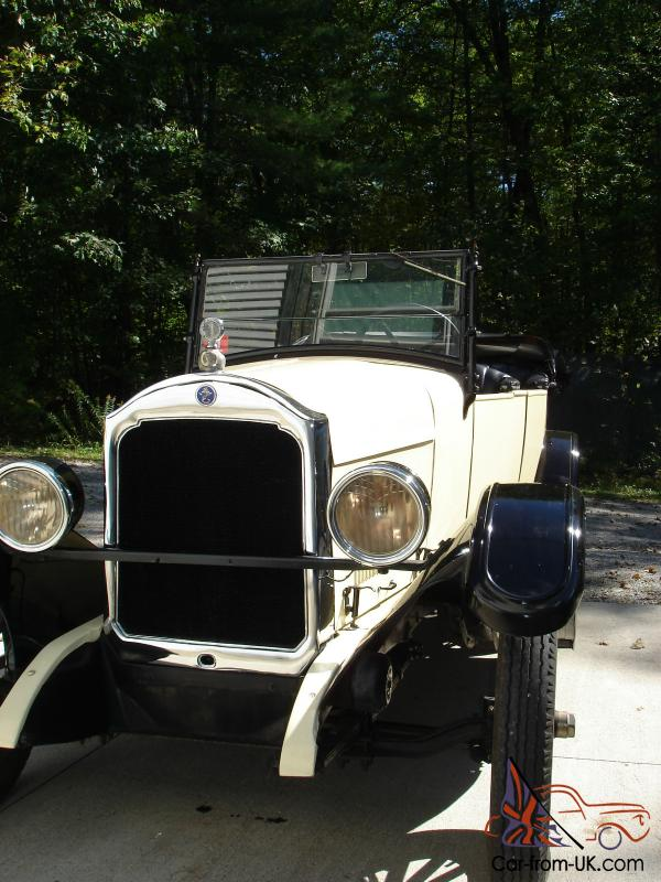 1926 Star Touring Durant Motors Antique Car  Not Ford Chevy