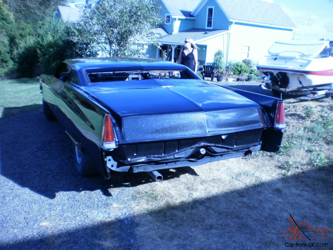 chopped 69 cadillac coupe deville, black, pearl